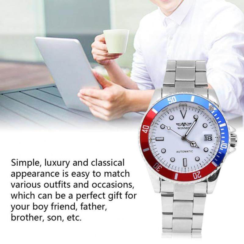 3Colors Winner Male Automatic Mechanical Watch Stainless Steel Band Wristwatch Malaysia