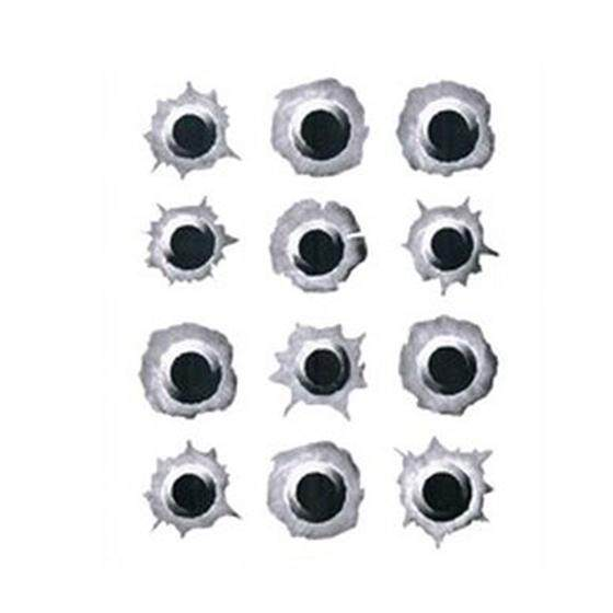 3D Car Styling Creative Personality Vinyl Decal Accessories Stickers, Fake Bullet Holes shape Gray -