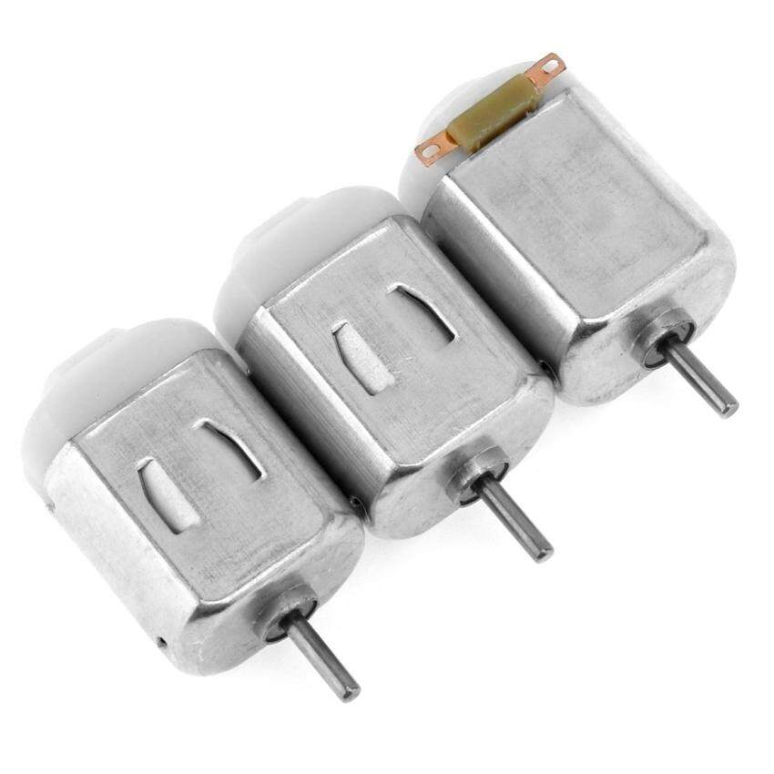 3pc 130 Small DC Motor with 2mm Shaft Diameter and 1 to 6 Volts for Model Toys