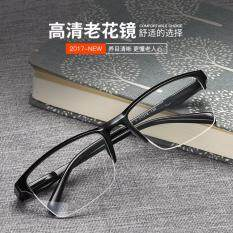 !!! 4 Paris !!! High quality half-rim BLACK Anti-fatigue reading glasses +1.00