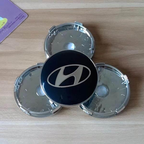 Logo Xe Hơi, 4 Miếng Dán Nắp Trung Tâm Bánh Xe Biểu Tượng Hyundaii 60Mm Nắp Đậy Nắp Đậy Trục Bánh Xe Ô Tô Dành Cho Hyundaii Màu Đen