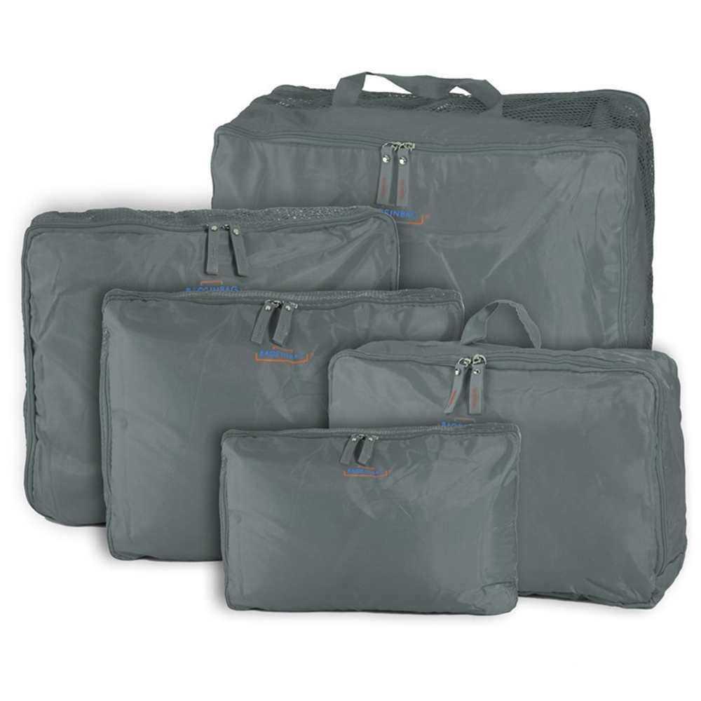 Eyqtous 5 * Penyimpan Pakaian Tas Packing Bagasi Tahan Air Kantong Perjalanan Cube Organizer