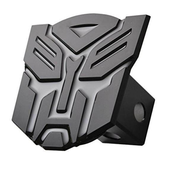 5 Transformer Autobot 3d Black emblem Trailer Metal Hitch Cover Fits 2