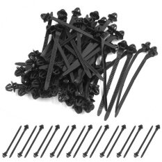 50 Pcs Black 11mm Hole Cable Car Trailer Zip Ties Wrap Push Rivets Clips Wiring By Valueshopping-Mal.