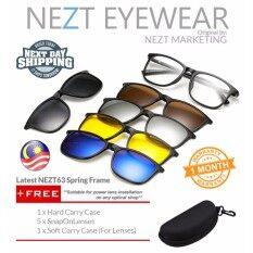 6 In 1 Nezt63 Spring Frame Magnetic Snap On Glasses By Nezt Marketing.