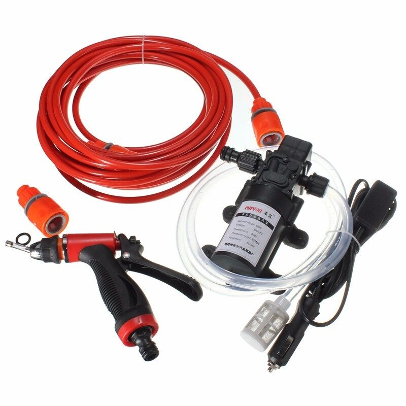 OurGoal 60W High Pressure Self-priming Electric Car Portable Wash Washer Water Pump 12V