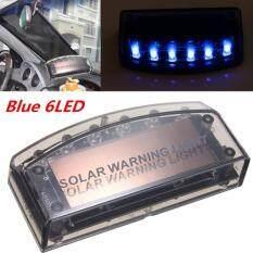 6LED Truk Mobil Dash Biru Burglar Alarm Peringatan Strobe Ringan Anti Pencurian Blitz
