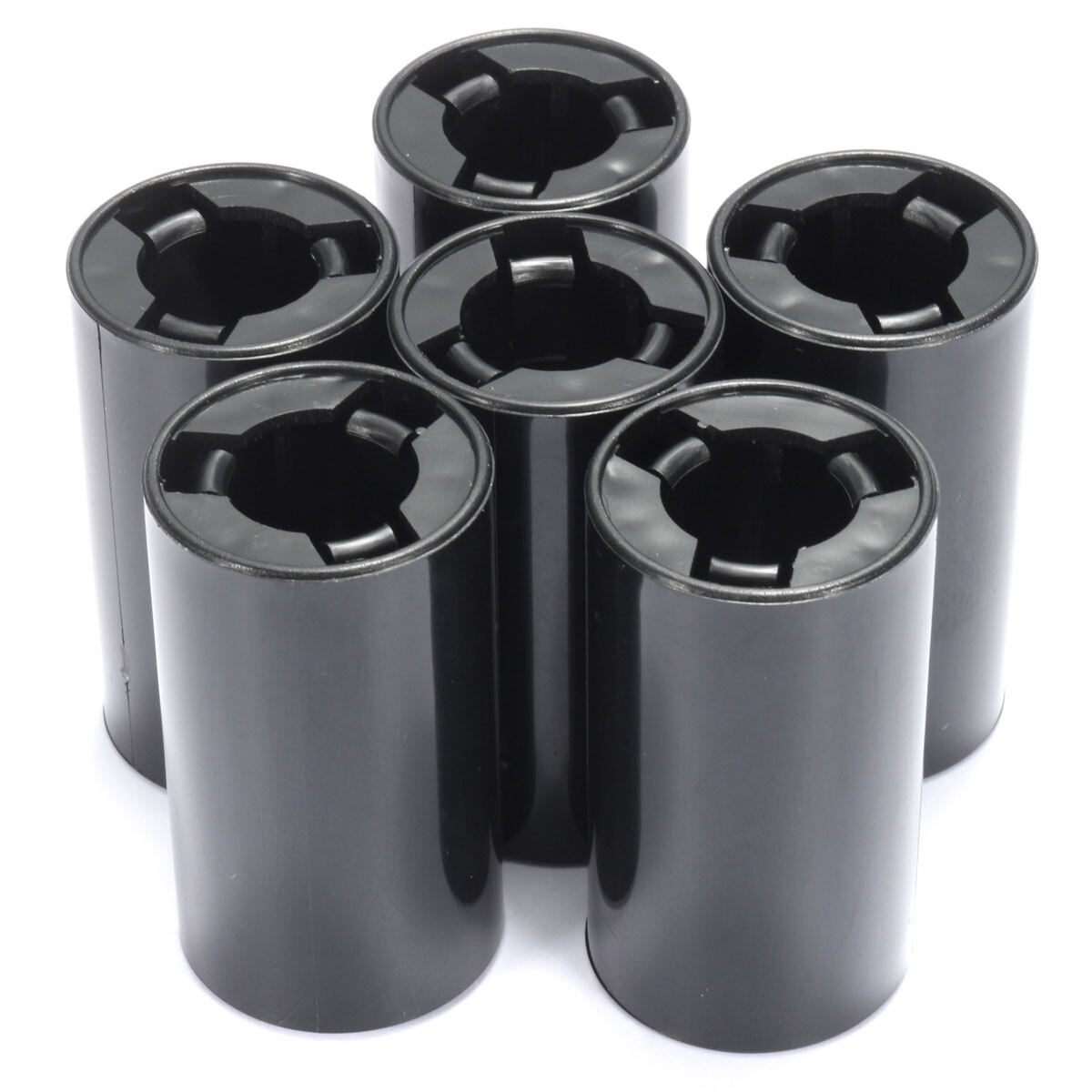 6pcs AA to C Size Battery Converter Adapter Case Holder Plastic Case Tube New