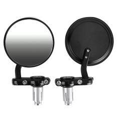 7/8 Universal Motorcycle Bike/motorbike Rearview Handle Bar End Side Mirrors By Greatbuy666.