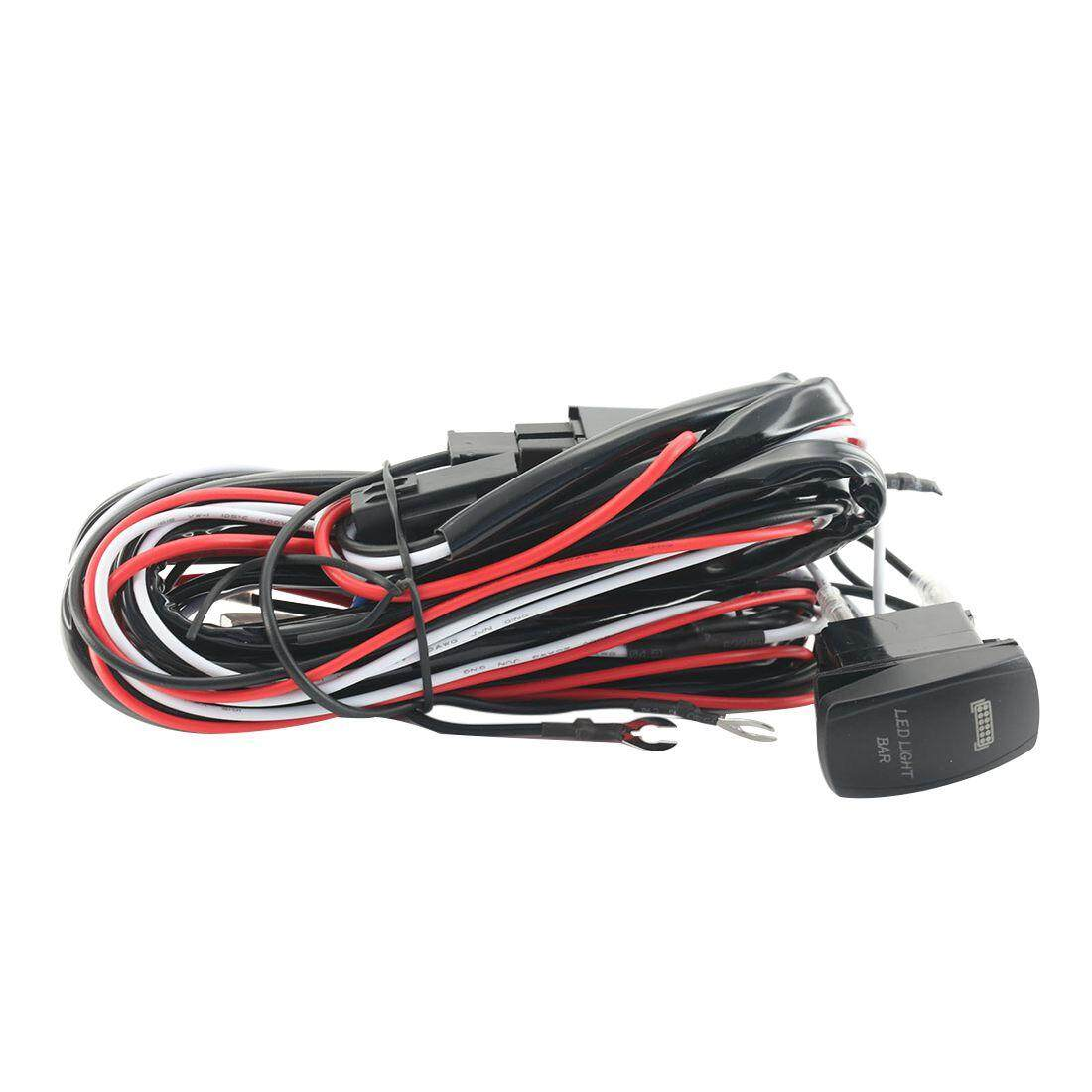 Promo 9Ft 40A 12V Power Switch Relay Wiring Harness Kit For Led Light Bar Up To 120W Intl