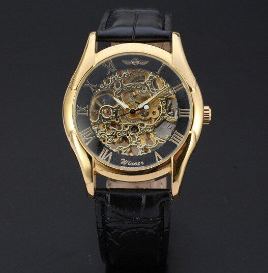 OurGoal Winner Men's Leather Automatic Wrist Watch