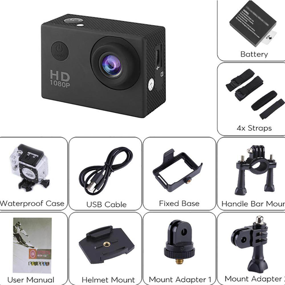 A8 720P 2.0inch LCD Full HD Sport Action DV Camera Camcorder Waterproof - intl