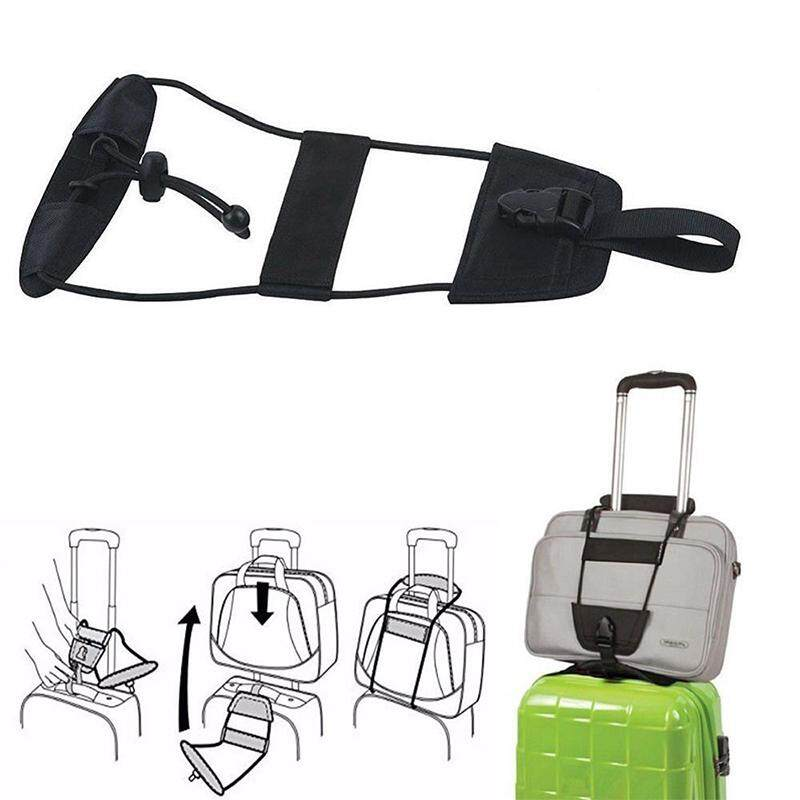 Adjustable Travel Luggage Airplanes&Amp;Camping&Amp;Office Suitcase Belt Add A Bag Strap Carry On