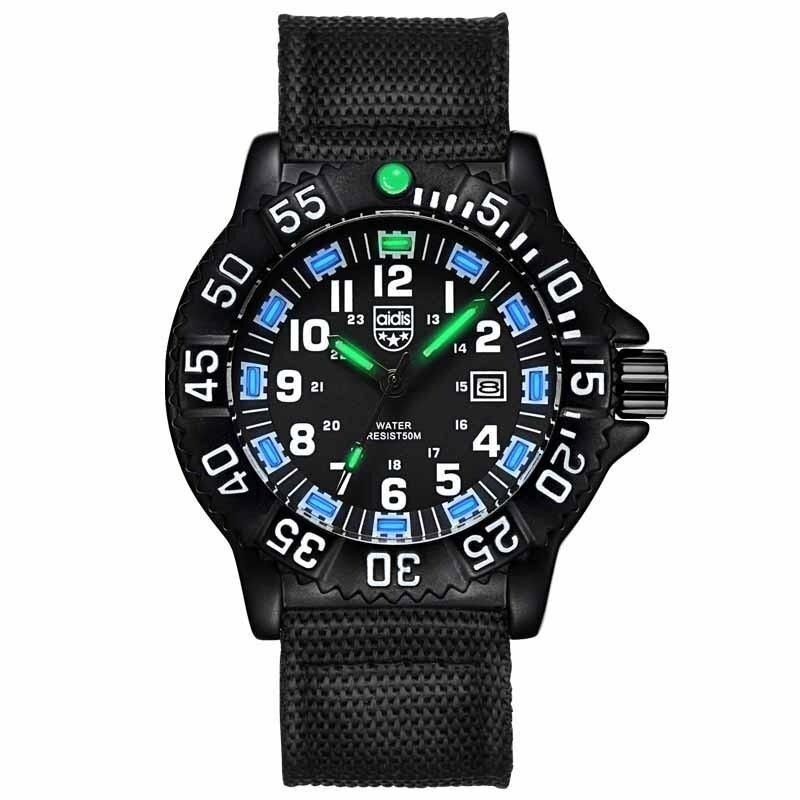 AIDIS  Men Outdoor Sports Luminous Watches Military Watches MY-050  Black Blue Malaysia