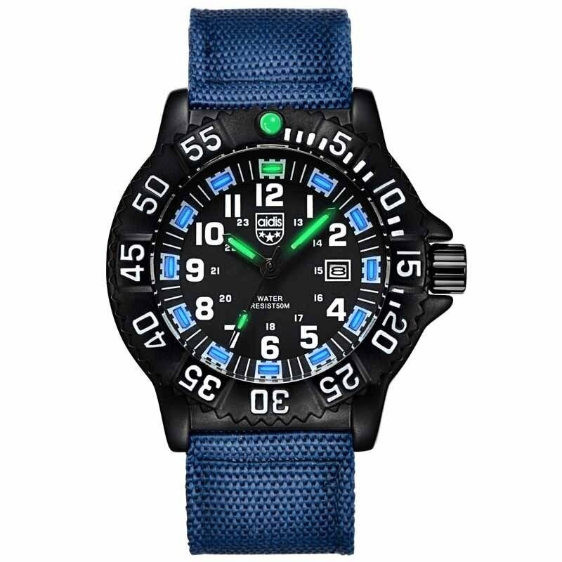 AIDIS  Men Outdoor Sports Luminous Watches Military Watches MY-050  Blue Malaysia
