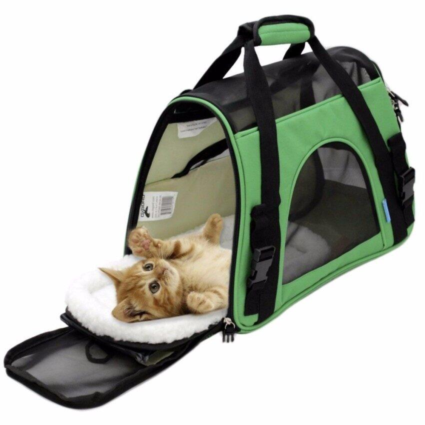 สายการบินได้รับการอนุมัติผู้ให้บริการสัตว์เลี้ยงวัตต์/ขนแกะสำหรับสุนัขและแมว - ด้านสุนัข - 2018 ออกแบบใหม่ (สีเขียว) - นานาชาติ By Sammy Fashion Store.