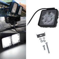 Allwin 27 Watt Lampu Kerja LED Spot Kabut Medan Berat Mengemudi 4X4 untuk Lampu Truk Jip Perahu ATV Bar Hitam