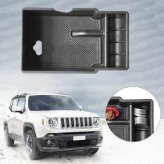 Allwin Pusat Mobil Palet Penyimpanan Wadah Kotak Pada Tangan Kursi Mobil Cocok untuk Jeep Renegade Hitam