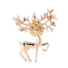 Allwin Cute New Year Christmas Deer Xmas Gift Alloy Brooch Pin Party Decoration Golden By Allwin2015.