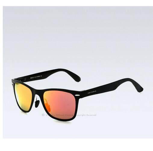 Aluminum Magnesium Men's Mirror Sun Glasses Goggle Square EyewearAccessories Sunglasses (red)
