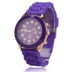 Amart Girls Candy Wrist Watch Quartz Silicon Watchband (Purple) Malaysia