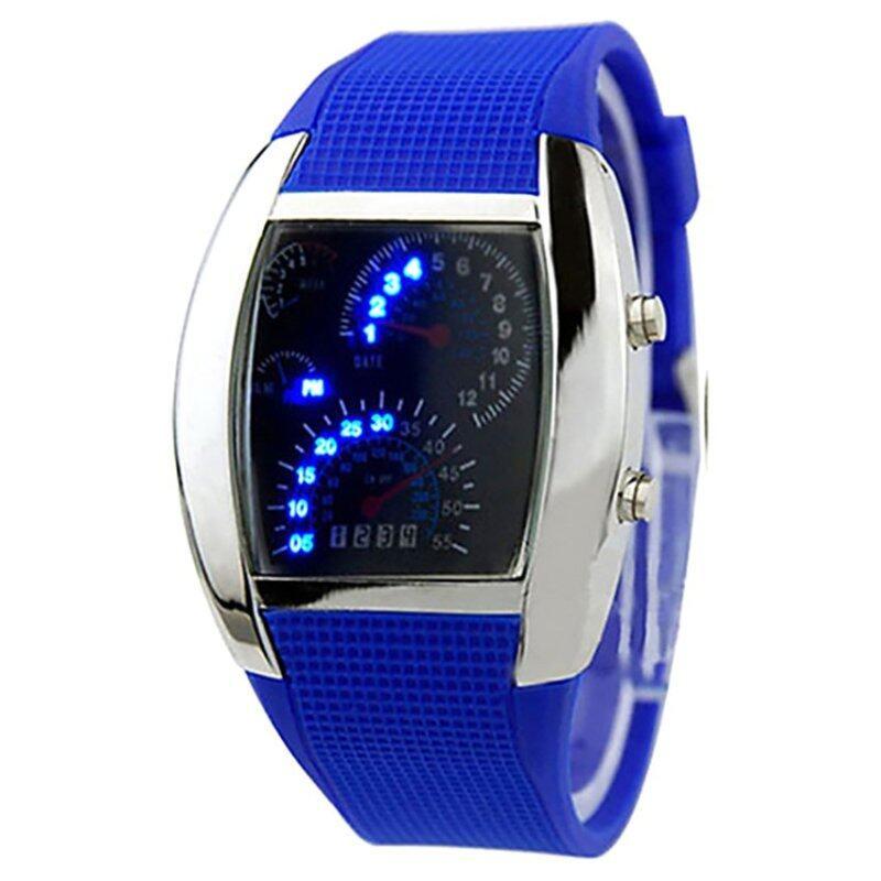 Amart Sports LED Backlight Military Digital Quartz Wrist Watch (Blue) - Intl Malaysia