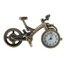 ANGEL Unique Collection Bronze Alloy Bicycle Quartz Pocket Watch Pendant Necklace Gold Malaysia