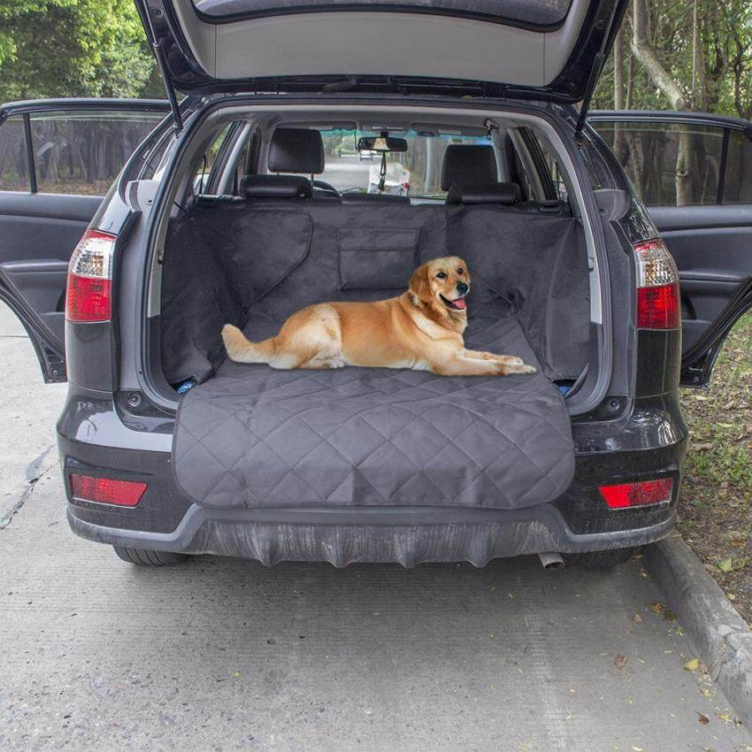 Anself Non-slip Waterproof Dog Cargo Liner Safety Hammock Pet Car Back Seat Cover Protector Mat for Trunk SUV Pet Supply