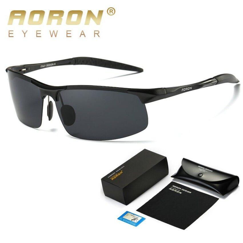 Aoron Klasik Pria Kacamata Hitam Terpolarisasi Merek Desain Olahraga Malam  Kacamata Penglihatan Kacamata Oculos De Sol 6f27c6e14e