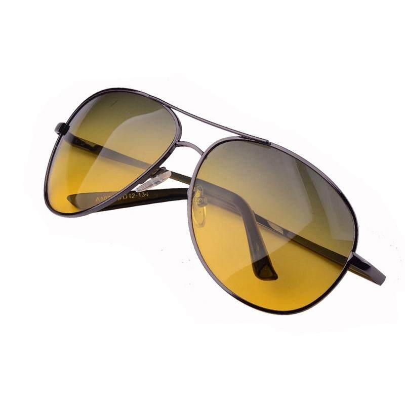 e261f33a927 Aoron Men s polarized sunglasses Day night vision driving HD UV400 Pilot  glasses - intl
