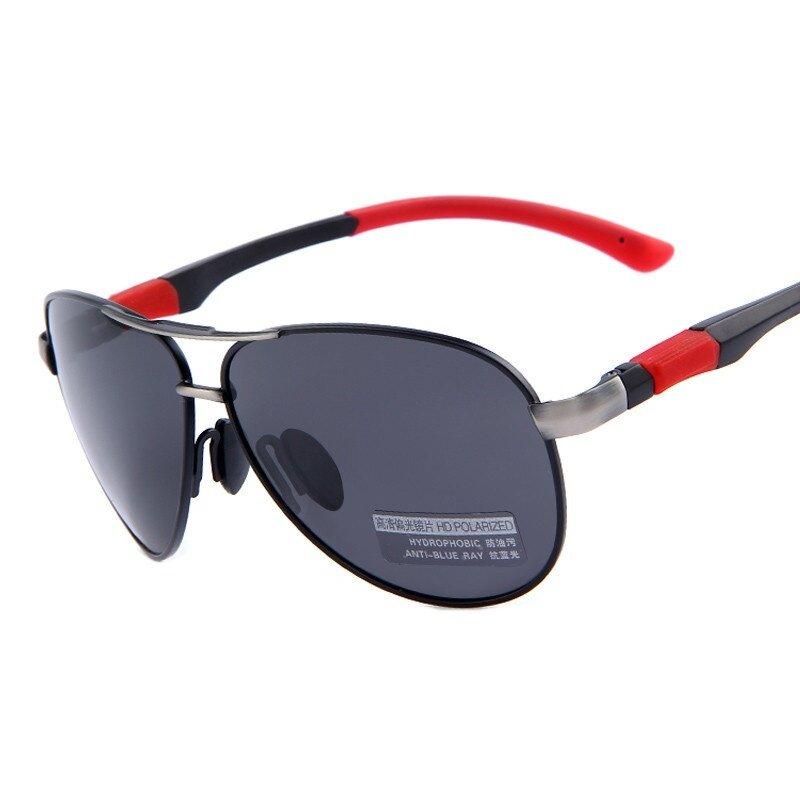 Kacamata AORON Polarized Aviator Sunglasses Pria UV400 Mengemudi HD Goggle Kotak Asli Pilot Sun Glass Luxury Eyewear Accessories216-Intl