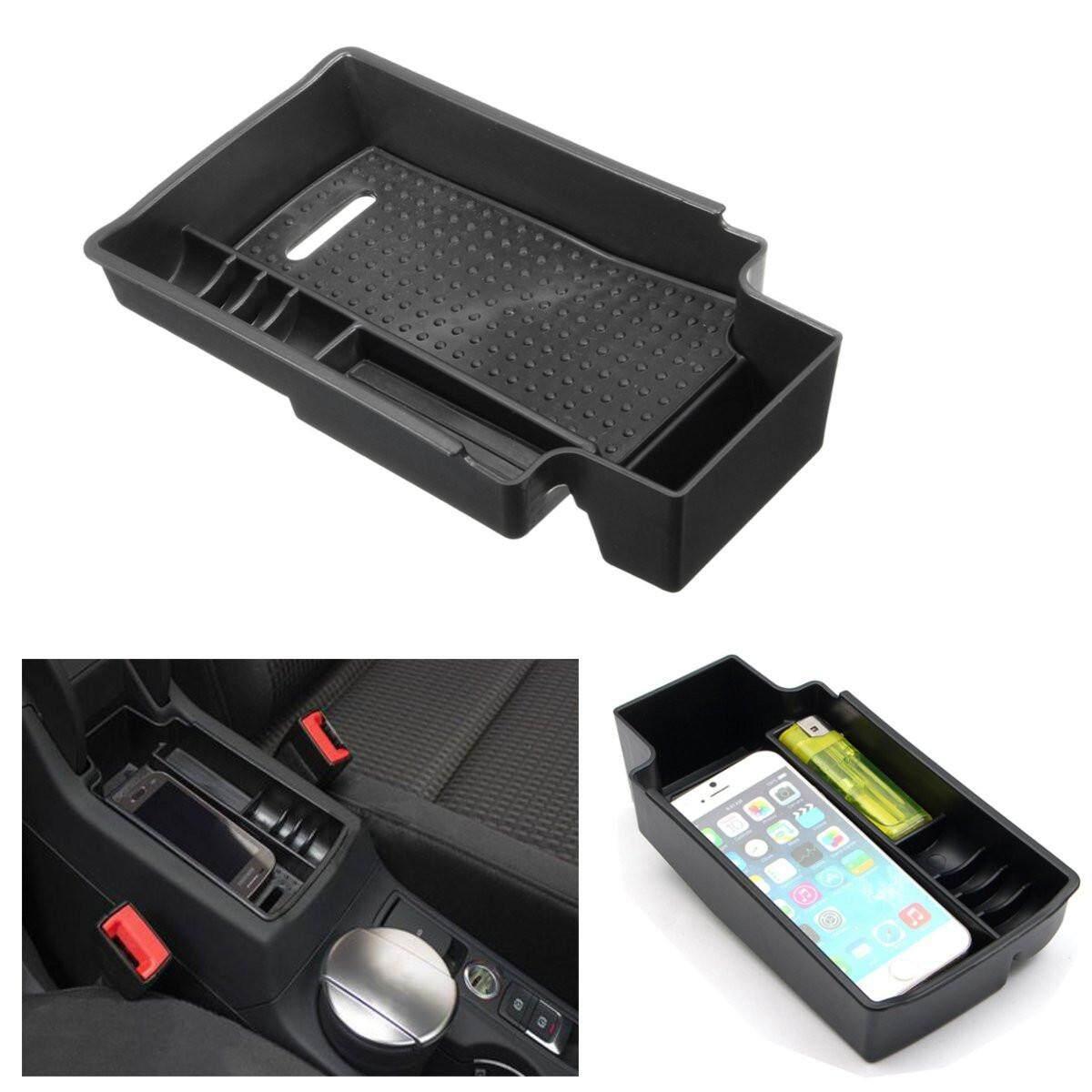 Wadah Kotak Pada Tangan Kursi Mobil Tempat Penyimpanan Utama Tray Kotak Palet Wadah untuk Audi Q3 12-16 Hitam-Intl