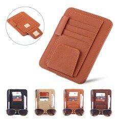 Auto Car Sun Visor Organizer Pouch Bag Card Storage Glasses Holder Clip Orange By Sweatbuy.