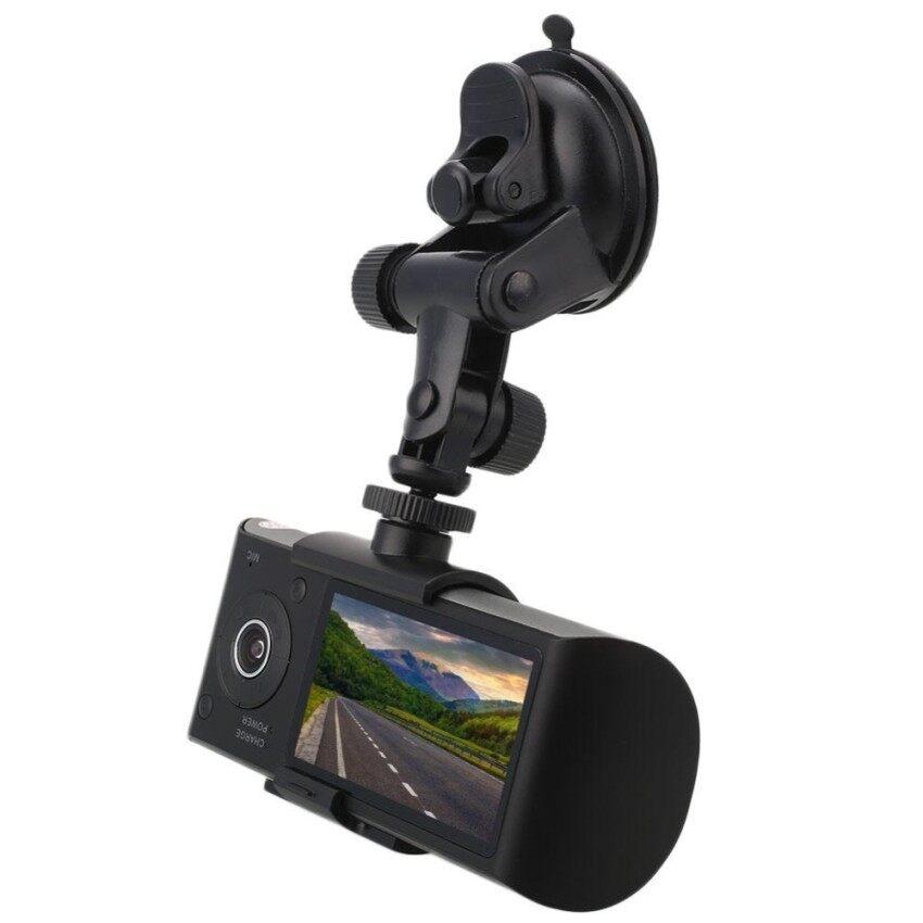Otomatis Penggemar X3000/R300 2.7 Ganda Lensa Mobil Dash 1080 P Malam Vision Dvrcamera Perekam-Internasional
