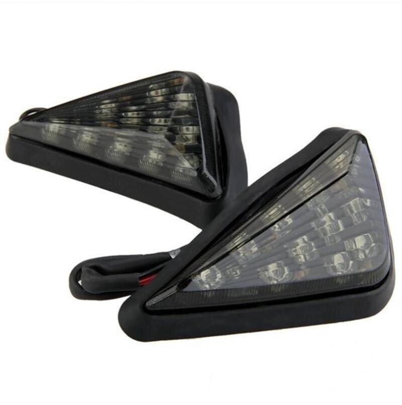 AV SUPPLY Smoke Triangle Flush Mount LED Turn Signals Lights 2PCS