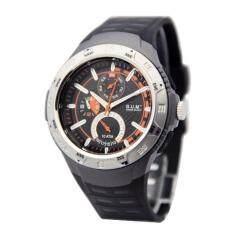 B.U.M Equipment unisex watches model B823 (grey case, black dial) casual watch Malaysia