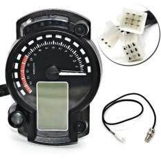 Backlight Lcd Digital Motorcycle Speedometer Odometer Motor Bike Tachometer By Dickeystore.