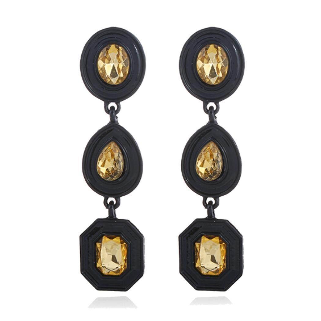 Terbaik Penjual Sunweb Wanita Panjang Menjuntai Geometris Berlian Imitasi Tetesan Air Anting-Anting Pesta Perhiasan