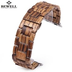 BEWELL ZS - B01 24MM Wooden Watch Strap Butterfly Clasp Wristband Malaysia