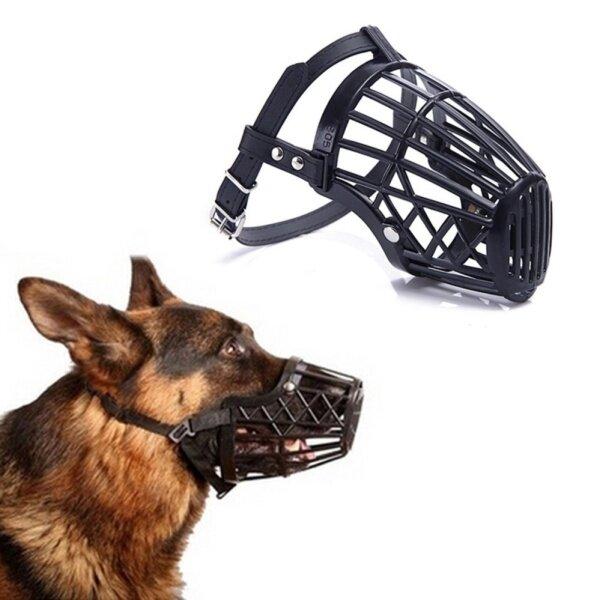 Đen Rọ Điều Chỉnh Được Miệng Mõm Bìa Cho Huấn Luyện Chó Bark Bite Chew Điều Khiển Hữu Ích Đen Kích Thước 2 H