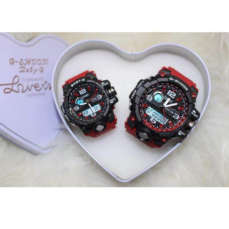 Black with Red GShock & BabyG Couple Malaysia