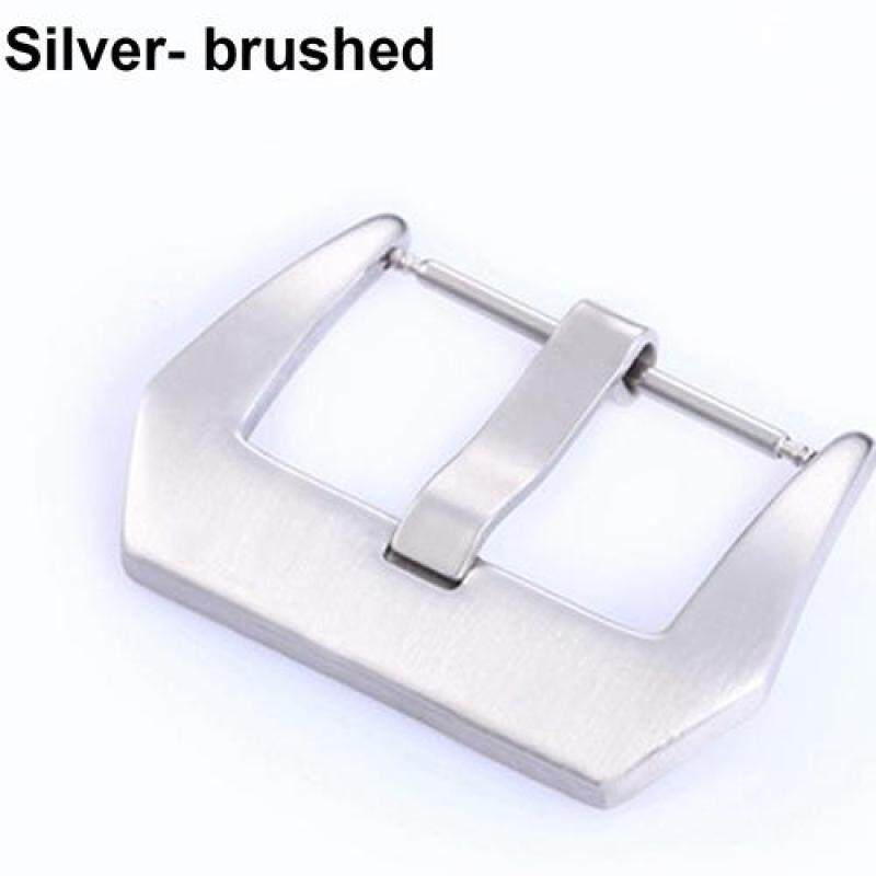 Bluelans® 1Pc Stainless Steel Leather Watch Band Strap Clasp Pin Buckle 20/22/24/26mm 26 Mm Malaysia