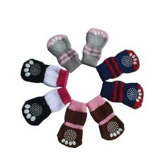 Bluelans 4 Pcs Dog Anti Slip Mini Sock(s) By Bluelans.