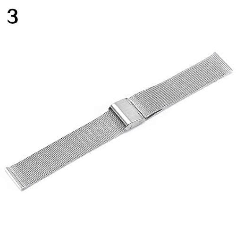 Bluelans® Stainless Steel Bracelet Strap Wrist Watch Mesh Replacement Band 18 20 22 24 mm 22mm (Silver) Malaysia