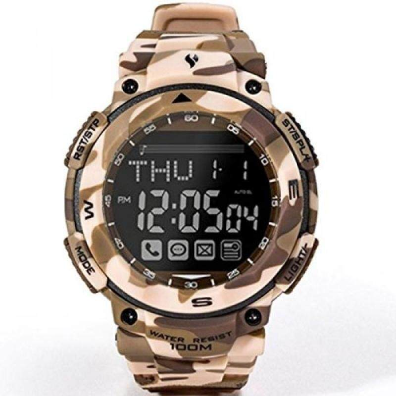 Bluetooth 4.0 SmartWatch Waterproof 10 ATM Dive Watch For Men Sport Fitness stopwatch With Android And iphone Smartphones (Desert Camouflage) Malaysia