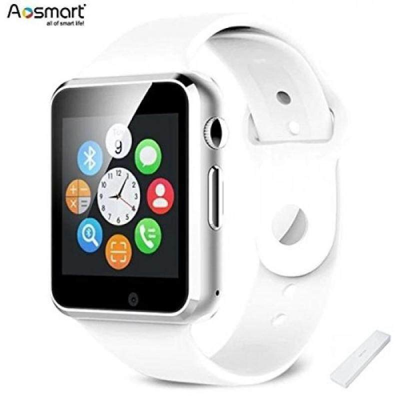 Bluetooth Smart Watch with Camera, Aosmart B23 Smart Watch for Android Smartphones (White) Malaysia
