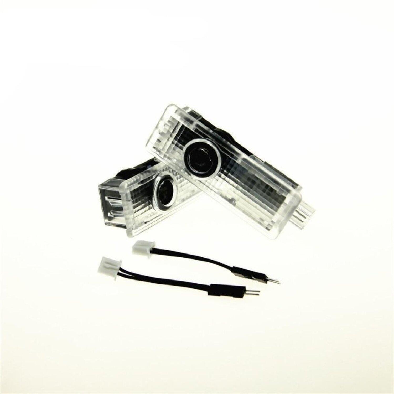 BMW Pemasangan Yang Mudah Lampu Mobil LED Proyektor Logo Ghostshadow Lampu 2-pc Set