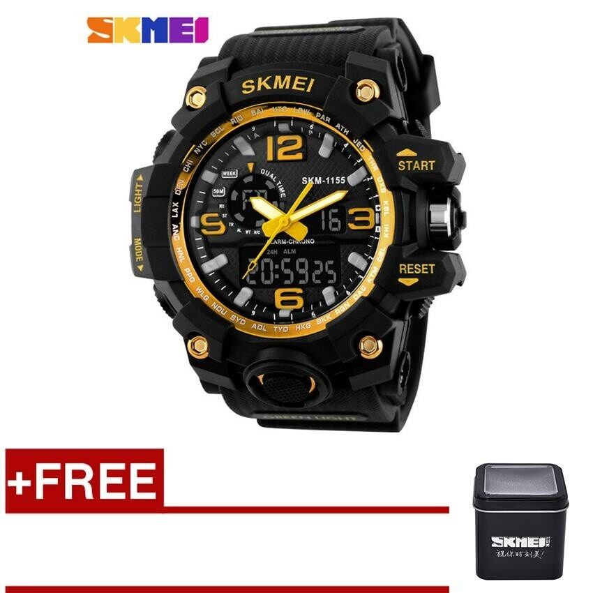 ... Skmei 1155 Digital Watches S Shock Military Army Men Watch Water Resistant Date Calendar Led Sports