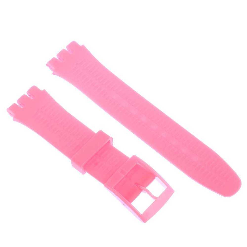 19 Karet Silikon Pengganti Untuk Pink Gelang Jam Tangan Swatch By U.s. Polora.