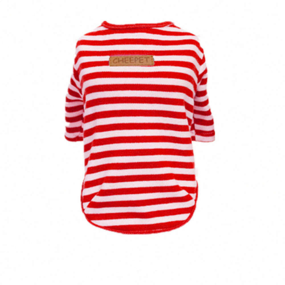 Buy Sell Cheapest Bolehdeals Red Metal Best Quality Product Deals Tm Stripe T Shirt Merah S Pet Clothes Dog Cat Classic Sweater Petautumn Apparel